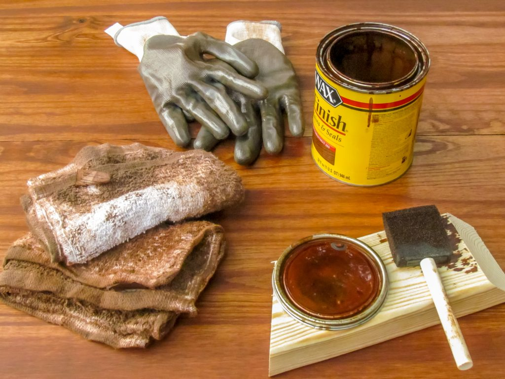 supplies for staining wood
