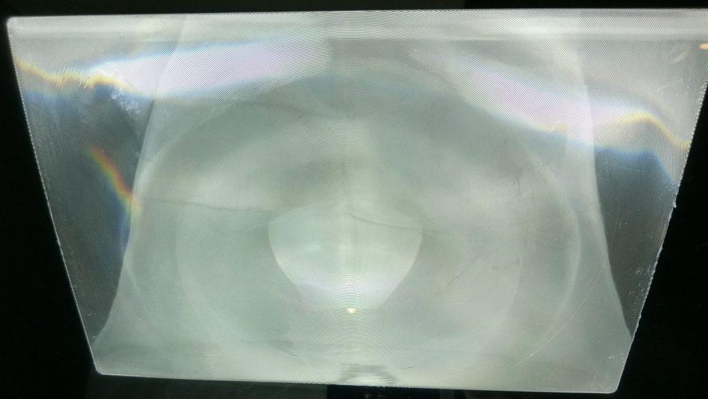 a plastic Fresnel lens